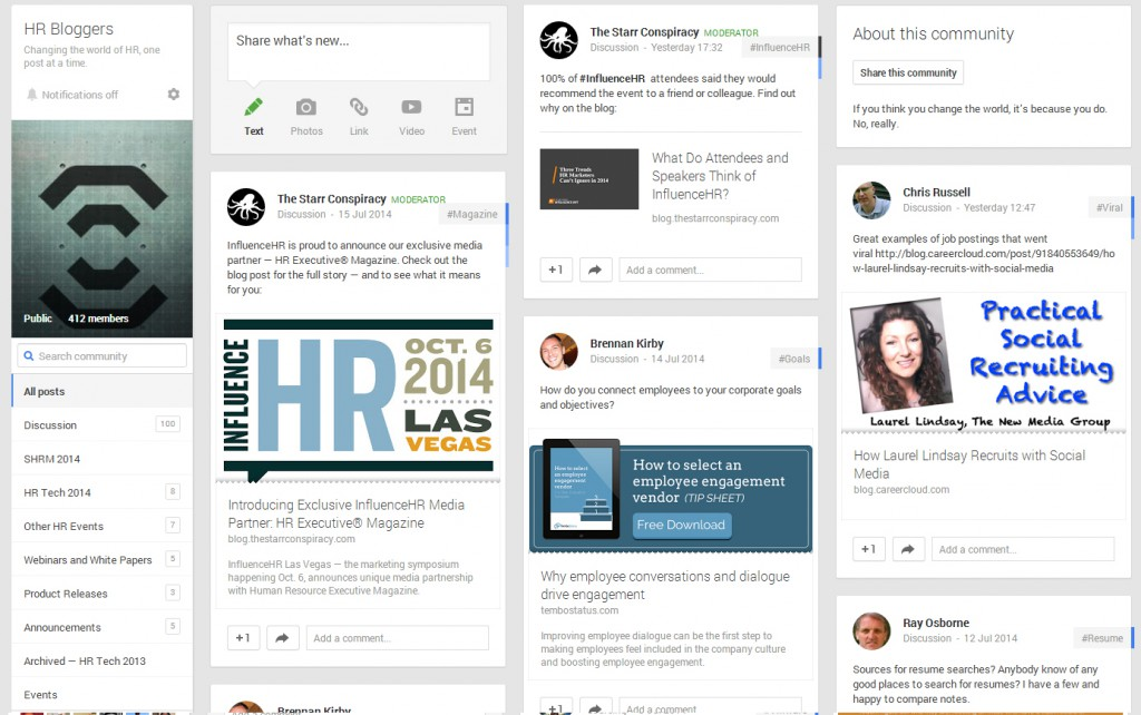 hr-bloggers-google-plus-community