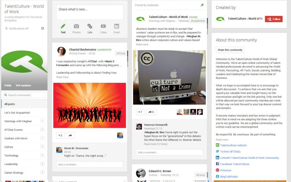 talent-culture-google-plus-community