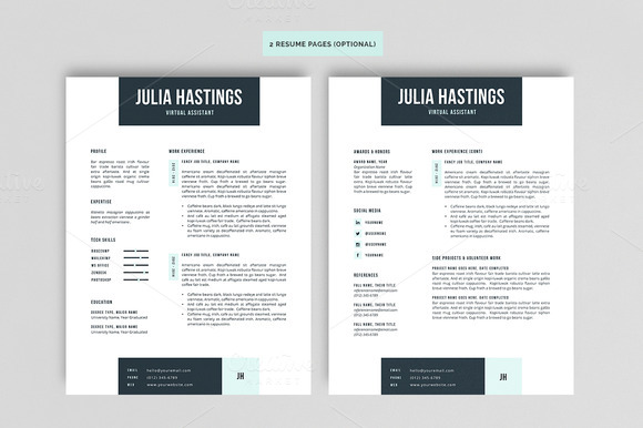 10 great minimal design cv designs