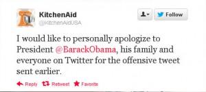 screenshot of a twitter apology tweet