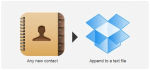 IFTTT-contact-to-dropbox