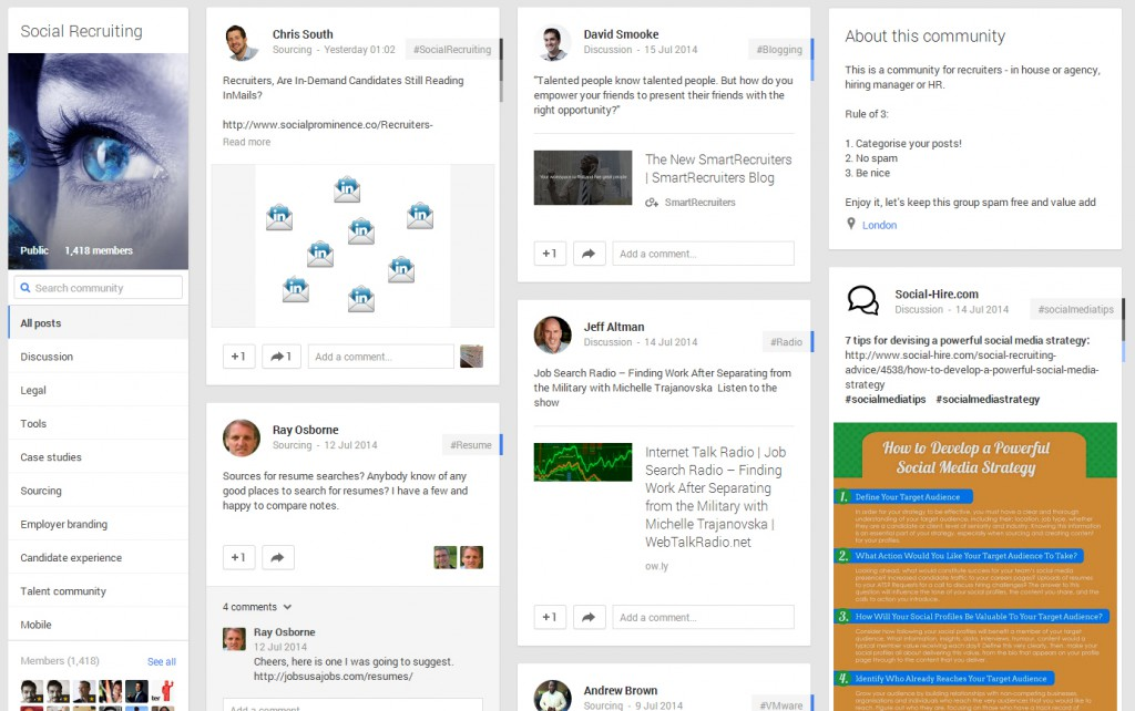 Social-Recruiting-google-plus-community