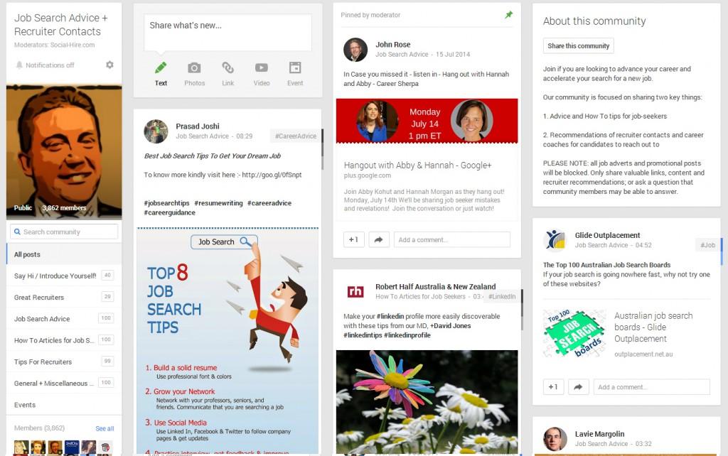 job-search-google-plus-community