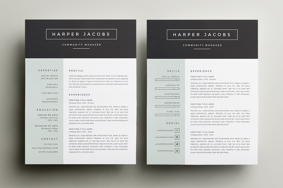 10 Great Minimal Design CV Templates