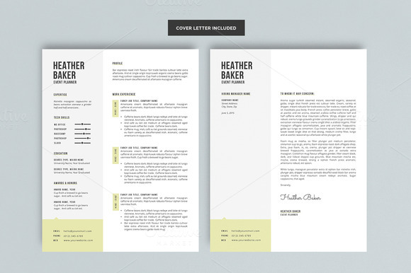 10 great minimal design CV templates - CIPHR