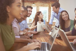 Businessmen And Businesswomen Meeting To Discuss Ideas