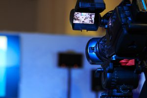 television camera at a conference