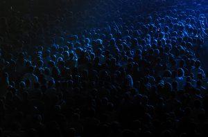Dark background of crowd at concert