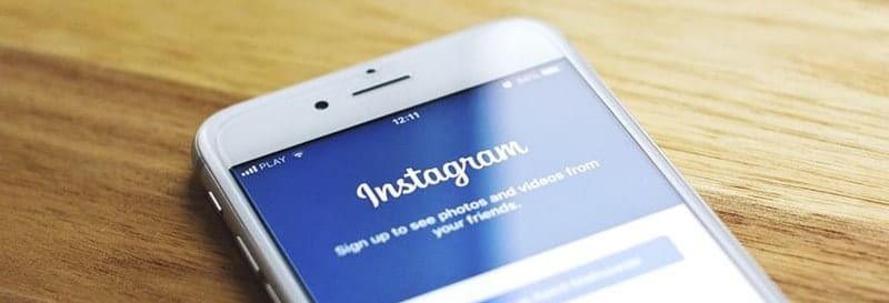 instagram on mobile phone