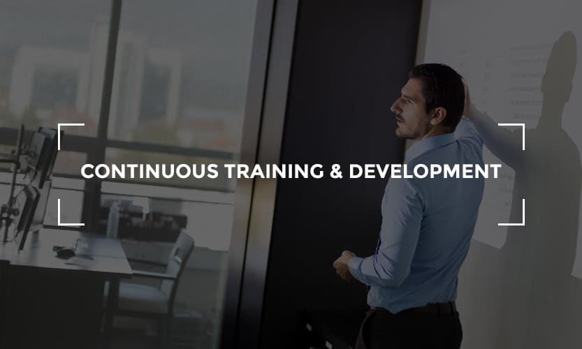 Continuous training and development