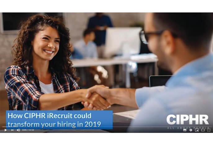 iRecruit Webinar CIPHR-webinar image