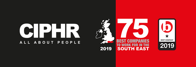 CIPHR logo and Best Companies top 75 logo